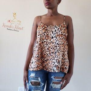Tops - NEW Camel leopard animal print tank top